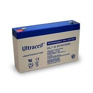 Ultracell Bleiakku 6 V, 7 Ah (UL7-6)<br>Faston (4,8 mm) Bleiakku