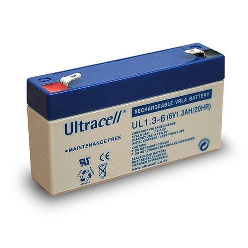 Ultracell Bleiakku 6 V, 1,3 Ah (UL1.3-6)<br>Faston (4,8 mm) Bleiakku