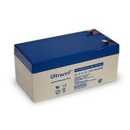 Ultracell Bleiakku 12 V, 3,4 Ah (UL3.4-6)<br>Faston (4,8 mm) Bleiakku, VdS