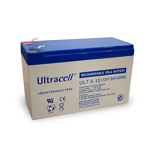 Ultracell Bleiakku 12 V, 7,5 Ah (UL7.5-12)<br>Faston (4,8 mm) Bleiakku