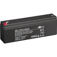 GO12-2.3 (2300 mAh, 12 V)<br>Faston (4,8 mm) Bleiakku