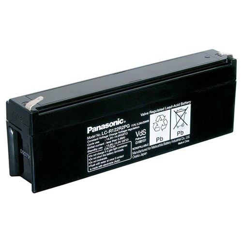 Panasonic Bleiakku 12 V, 2,2 Ah (LC-R122R2PG)<br>Faston (4,8 mm) , VdS