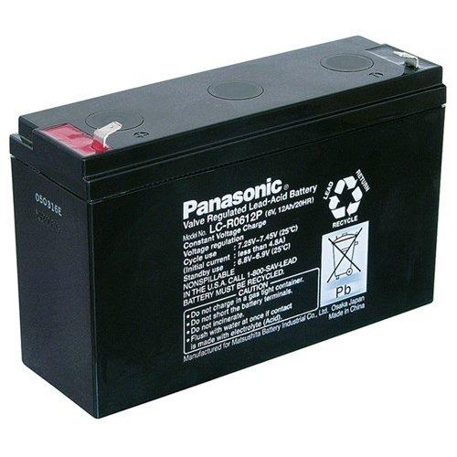 Panasonic Bleiakku 6 V, 12 Ah (LC-R0612P)<br>Faston (4,8 mm)