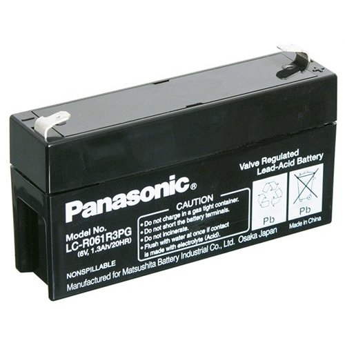 Panasonic Bleiakku 6 V, 1,3 Ah (LC-R061R3PG)<br>Faston (4,8 mm)