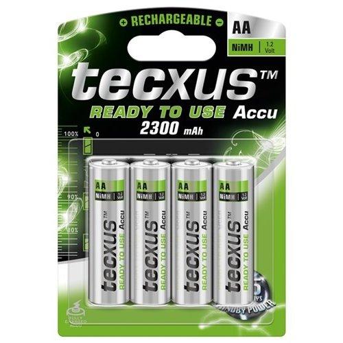 Tecxus AA (Mignon)/HR6 - 2300 mAh<br>LSD-NiMH Akku (Ready-to-Use), 1,2 V