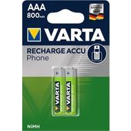Varta AAA (Micro)/HR03 (58398) - 800 mAh<br>Nickel-Metallhydrid Akku (NiMH), 1,2 V