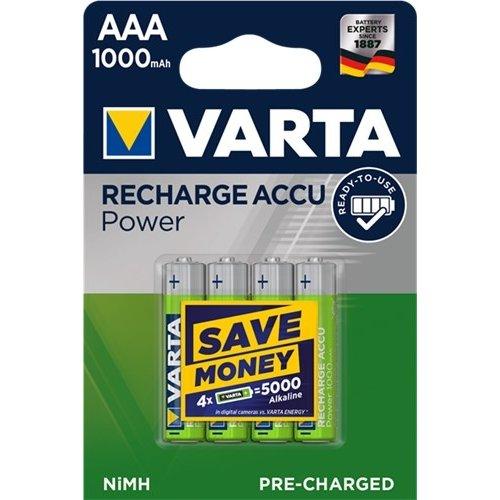 Varta AAA (Micro)/HR03 (5703) - 1000 mAh<br>LSD-NiMH Akku (Ready-to-Use), 1,2 V