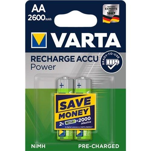 Varta AA (Mignon)/HR6 (5716) - 2600 mAh<br>LSD-NiMH Akku (Ready-to-Use), 1,2 V