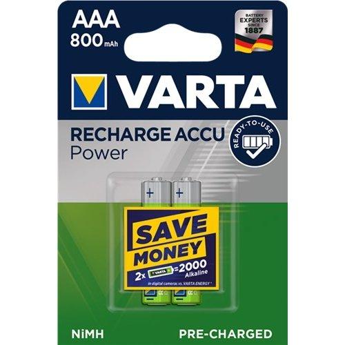 Varta AAA (Micro)/HR03 (56703) - 800 mAh<br>LSD-NiMH Akku (Ready-to-Use), 1,2 V