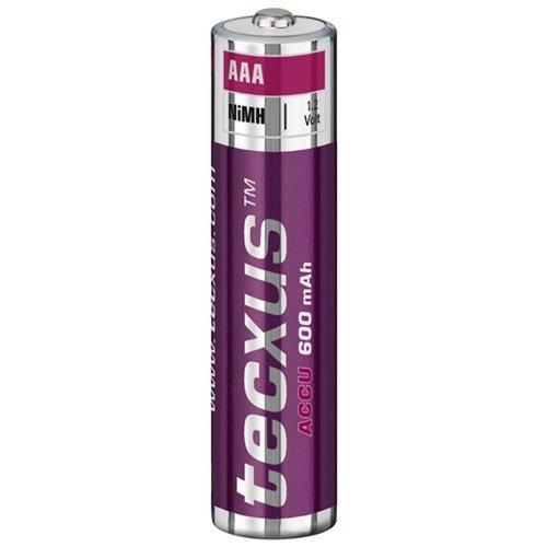 Tecxus AAA (Micro)/HR03 - 600 mAh<br>Nickel-Metallhydrid Akku (NiMH), 1,2 V