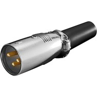 Mikrofonstecker, 3 Pin<br>mit vergoldeten Kontakten und geschraubter Zugentlastung