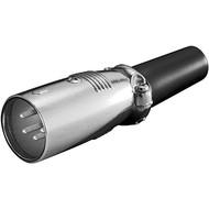 Mikrofonstecker, 4 Pin<br>mit geschraubter Zugentlastung
