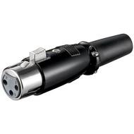 Mikrofonkupplung, 3 Pin<br>mit geschraubter Zugentlastung