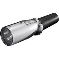 Mikrofonstecker, 3 Pin<br>mit geschraubter Zugentlastung