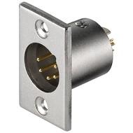Mikrofon-Einbaustecker, 5 Pin<br>mit vergoldeten Kontakten