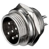 Mikrofon-Einbaustecker, 6 Pin<br>6 polig
