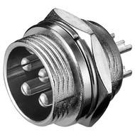 Mikrofon-Einbaustecker, 4 Pin<br>4 polig