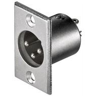 Mikrofon-Einbaustecker, 3 Pin<br>