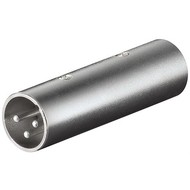 XLR Adapter/Kupplung, Stecker zu Stecker<br>XLR-Stecker (3-Pin) > XLR-Stecker (3-Pin)