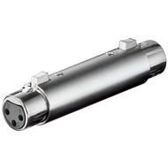 XLR Adapter/Kupplung, Buchse zu Buchse<br>XLR-Buchse (3-Pin) > XLR-Buchse (3-Pin)
