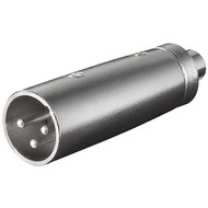 XLR Adapter, Cinch Buchse zu XLR Stecker<br>XLR-Stecker (3-Pin) > Cinch-Buchse