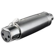 XLR Adapter, Cinch Buchse zu XLR Buchse<br>XLR-Buchse (3-Pin) > Cinch-Buchse