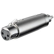 XLR Adapter, Cinch Stecker zu XLR Buchse<br>XLR-Buchse (3-Pin) > Cinch-Stecker