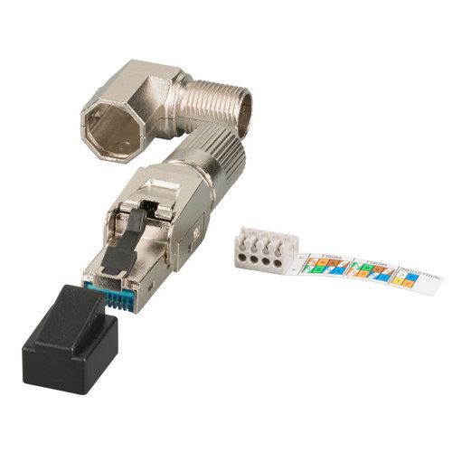 RJ45 Premium Stecker STP, Cat.6A/ClassEA, feldkonfektionierbar