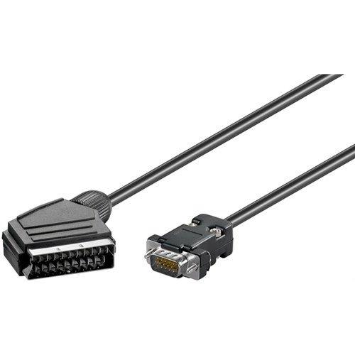 Adapterkabel, Scart zu VGA<br>Scartstecker (21-Pin) > D-SUB-Stecker (15-polig) 5M