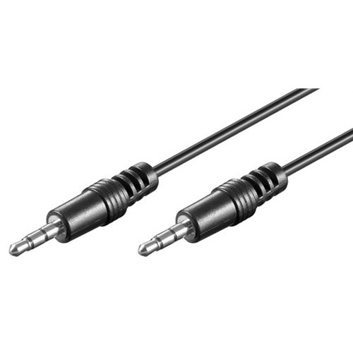 Audio Verbindungskabel AUX, 3,5 mm stereo, CU<br>Klinke 3,5 mm Stecker (3-Pin, stereo) > Klinke 3,5 mm Stecker (3-Pin, stereo) 2.5M