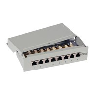 Mini-Patchp. 12xRJ45S Cat.5e RAL9005