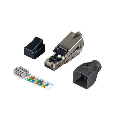 Feldkonfektionierbarer RJ45- Stecker Cat.6 10Gbit, IP20