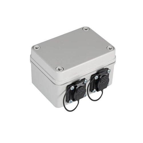 IP67 Gehäuse mit 2xRJ45 Ports Cat.6A u. 2xM16 Verschraubungen