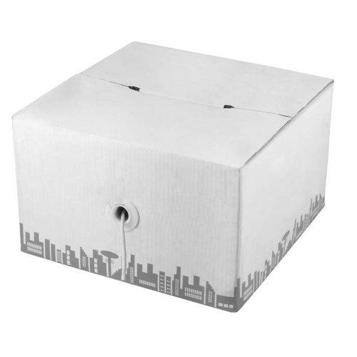 Verlegekabel Cat.6a 500 AWG23 U/FTP 4P FRNC-B grau, 305m Box