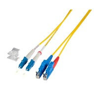 Duplex Jumper LC-E2000® 9/125µ, 2 m, OS2, LSZH, gelb,