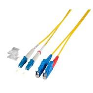 Duplex Jumper LC-E2000® 9/125µ, 3 m, OS2, LSZH, gelb,