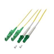 Duplex Jumper LC/APC-E2000®/APC 9/125µ, 10 m, OS2, LSZH, gelb