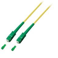 Simplex Jumper SC/APC8° - SC/APC8°, 0,5 m, OS2, LSZH, gelb, Ø 3,0mm