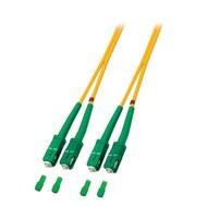 Duplex Jumper SC/APC8° - SC/APC8° 9/125µ, 3 m, OS2, LSZH, gelb