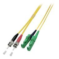 Duplex Jumper E2000®/APC8°-ST 9/125µ, 2 m, OS2, LSZH, gelb