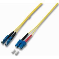 Duplex Jumper E2000®-SC 9/125µ, 0.5 m, OS2, LSZH, gelb