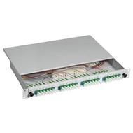 Spleißbox E2000®/APC 9/125µ na 24 Pigtails / 24 Kuppl OS2