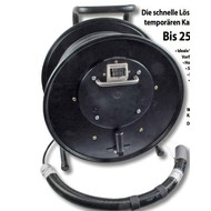 Kabeltrommel mit 6xSC(D) Kupp. bis 250m Kabel