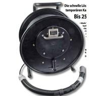 Kabeltrommel mit 6xSC(D) Kupp. bis 85m Kabel
