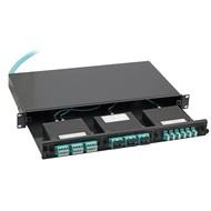 Ausziehbare Verteilerbox für 3xMTP/MPO-Kassetten unbest.
