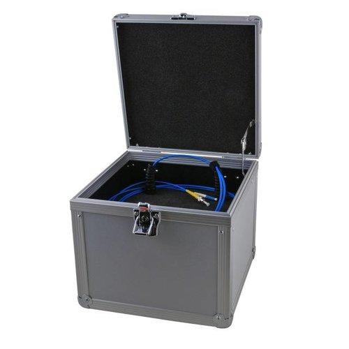 Alu-Vorlauffaser Koffer, LC/LC 500 Meter, 50/125µ, OM3