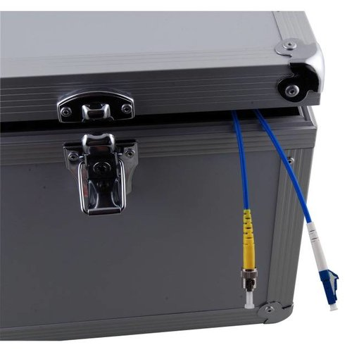 Alu-Vorlauffaser Koffer, SC/SC 100 Meter, 50/125µ, OM3
