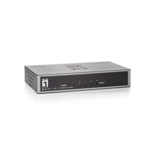 4-Port Fast Ethernet Switch, + 1 MMF SC