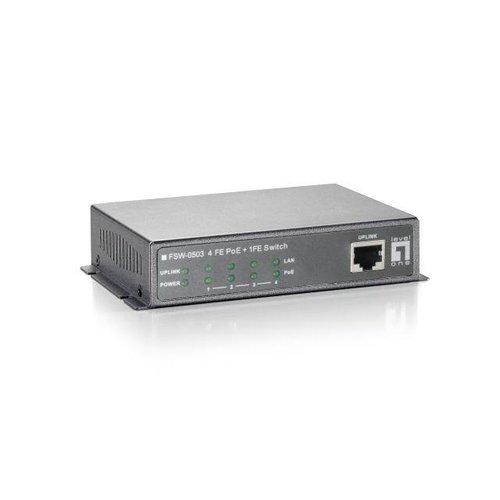 1-Port Fast Ethernet + 4-Port PoE Desktop Switch