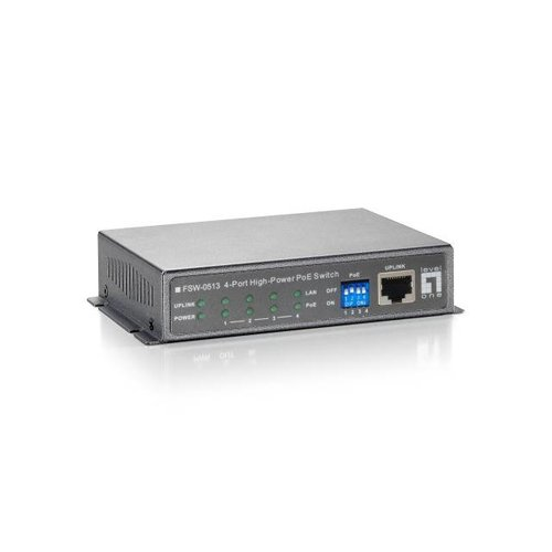 4-Port High Power PoE + 1 Port Uplink FE Switch